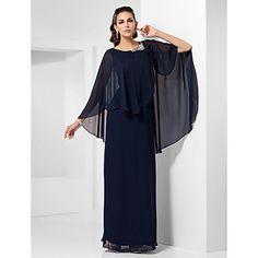 Sheath/Column Scoop Floor-length Chiffon Evening Dress  – EUR € 107.26