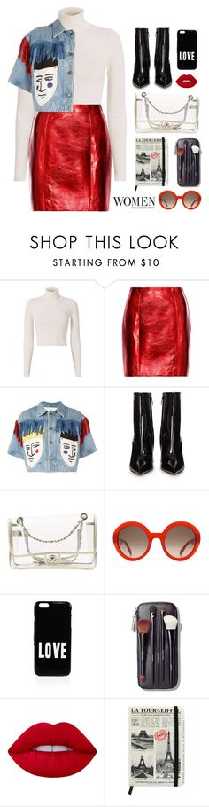 """""""Who doesn't love Paris!!?"""" by ino-6283 ❤ liked on Polyvore featuring A.L.C., Yves Saint Laurent, JC de Castelbajac, Balenciaga, Chanel, Alexander McQueen, Givenchy, Bobbi Brown Cosmetics and Lime Crime"""