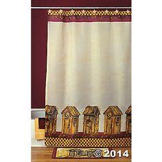 Outhouse Shower Curtain  Outhouse Shower Curtain
