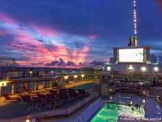 An amazing sunset and sky just after we left Bali while watching a movie on deck at (Movies Under The Stars) on the Sun Princess. We loved watching movies every night on deck. Photo taken Dec. 2015. #cruisedeck #cruiseships #sunset #beautiful_sunset #sunset_madness_ #moviesunderthestars #sunprincess #bali #sky_sunset #sky_sultans #pool #indianocean #sunrise_and_sunsets #skyporn #thebest_sunset #ig_sunrisesunset #exclusive_sky #sky #sky_brilliance #beautiful #colours #sunsetlovers…