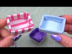 3 DIY miniature baskets