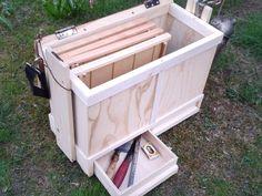 """biavl - værktøjskasse lavet af """"stumper"""", indvendig næsten færdig - mangler lidt skillerum m.m."""