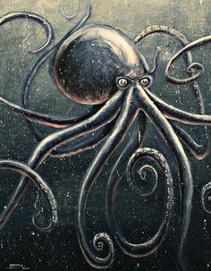 ex0skeletal:    (via The Observer by ~Sebmaestro #Octopus #Tentacles Octopus Artwork, Octopus Tentacles, Kraken, Name Covers, Leg Art, Leagues Under The Sea, Artwork Pictures, Merfolk, Cthulhu