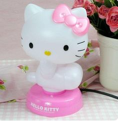 Amazon.com: The Best Christmas Gift Hello Kitty Bedroom Nightlight Kid Light Table/desk Stand Lamp (Pink): Home & Kitchen