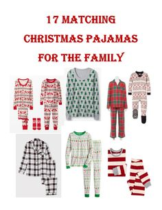 Who's excited for Christmas?! Although it is a little early, we're getting a head start on getting our matching Christmas pajamas for the family!