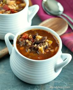 A hearty and delicious beef and barley soup.  Part of our Beef Soup Series on A Family Feast