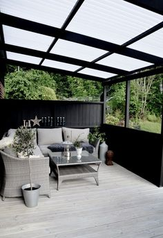 Trouvailles Pinterest: Terrasses couvertes © styleroom.se