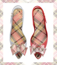 757bf9f70 Tartan is definitely the theme for the new Melissa X Vivienne Westwood  styles this summer.