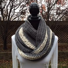 A personal favorite from my Etsy shop https://www.etsy.com/listing/215300615/grey-cream-infinity-eternity-cowl-neck