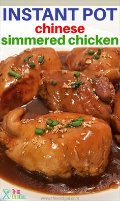 Pressure Cooker Chinese Simmered Chicken is an old Foster Farms recipe, cooked in a spicy sweet sauce. Now, it's what's for dinner in less than 30 minutes!