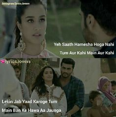 images about Sad shayari:( on We Heart It Romantic Song Lyrics, Love Songs Lyrics, Song Lyric Quotes, Me Too Lyrics, Music Lyrics, Bollywood Movie Songs, Movie Dialogues, Quotes That Describe Me, Love Your Life