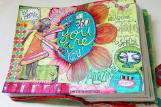 Collage Sheet Journal Page   A Wee Bit Warped - Shelly Massey