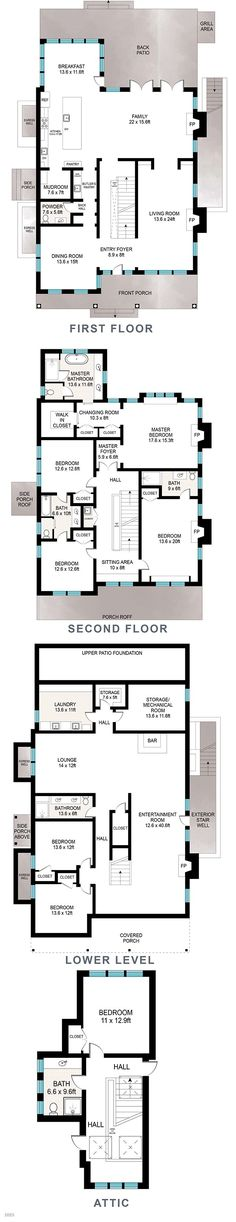 Luxury townhome floor plans google search home for Luxury open floor plans