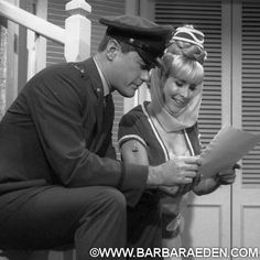 On set with Larry between takes. We truly had a chemistry that I had with no other actor. -Barbara