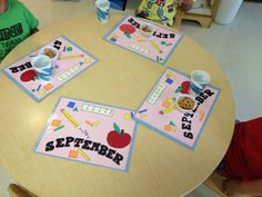 Placemats for the kiddos to eat snack on.