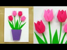 Greeting cards for birthday - Easy tutorial for a flower card