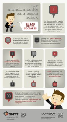 Los 10 #mandamientos para buscar trabajo en #redessociales