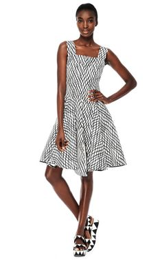 Sleeveless Lattice Print Dress by Marni