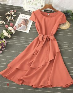 Casual Summer Dresses, Modest Dresses, Modest Outfits, Stylish Dresses, Classy Outfits, Pretty Outfits, Stylish Outfits, Short Dresses, Fashion Dresses