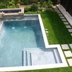 Pool with Mosaic Wall and Fountain - Contemporary - Pool - dallas - by Bonick Landscaping