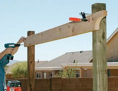 How to Build a Backyard Pergola: Simple DIY Woodworking Project - PopularMechanics.com