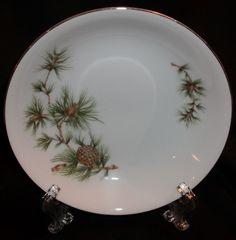 "1 Seyei Cascade Pine 11028  Plate Pine  5 1/2"" Saucer or Bread & Butter plate #Seyei #Seyei"