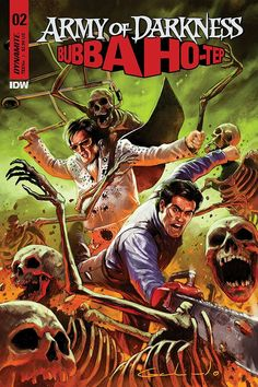Check Out Awesome Cover Art for Issue of 'Bubba Ho-Tep' x 'Army of Darkness' Comic Book Series - Bloody Disgusting Grimm Fairy Tales, Comics Online, Book Series, Cover Art, Horror, Army, Comic Books, Bruce Campbell, Darkness