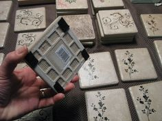 Sandy, from Reluctant Entertainer, is here sharing an easy and fabulous gift! What a useful gift for friends and neighbors. Embellished Tile Coasters     Sandy writes… Last year when I invited my Balcony Girls into my home, our craft for the day was to make coasters for the holidays. I even got in on the fun myself, and made of list of which friends to give to at Christmas....
