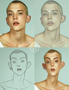 What a great way to break down the 'seeing' process! This is how you to explain . - How to Draw - Caricature Digital Art Tutorial, Digital Painting Tutorials, Art Tutorials, Digital Paintings, Drawing Tutorials, 3d Drawing Tutorial, Cartoon Tutorial, Drawing Cartoon Characters, Cartoon Drawings