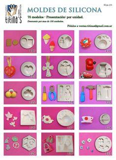 Moldes de Silicona Hoja2 www.titinas.com.ar