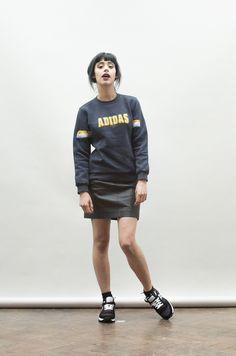 Vintage navy blue adidas sweater
