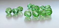 15 Peridot Faceted Czech Rounds,  8mm, Beads, Czech, Round, Bead Supply, Jewelry Supplies, Craft Supplies, Color Changing by Beads2Supply on Etsy