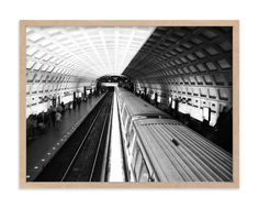 """""""DC subway fast track"""" - Art Print by van tsao in beautiful frame options and a variety of sizes."""