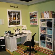 another super cute scrapbooking room
