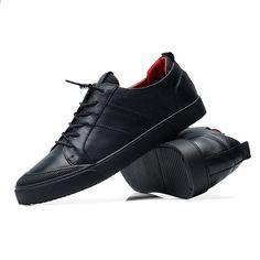 best authentic 46d6b b72e4 Herr fritidskläder läder äkta ko Toppkvalitativa Designer Mode sko Luxury  Design footware solida svart skor 9169 RAPQUE