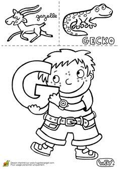 Lettre G Gazelle Gecko, page 7 sur 26 sur HugoLescargot.com