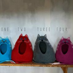 Katze-Bett / Höhle Katze / cat House / gefilzte von VaivaIndre