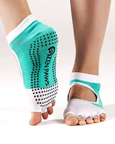 Zen Paws premium non slip toeless Yoga Pilates Fitness Barre socks * You can get more details by clicking on the image.(It is Amazon affiliate link) #fun