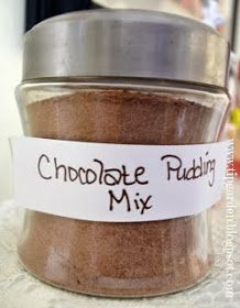 The Frugal Pantry: Pudding Mix: Chocolate or Vanilla