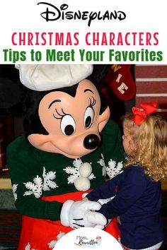 Looking for all the tips on meeting characters at Disneyland during the holiday season? I'm sharing where to find Mickey & Minnie, other Disney characters dressed for Christmas and where to find Santa at Disneyland! These time saving tips will guide you on how to meet n' greet, parade tips to see Disney characters in winter wear and where to get souvenir autographs at the Disneyland resort in California. #Disneyland #Christmas   Disneyland Christmas   Holidays at Disneyland   Disneyland…