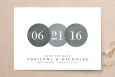 """""""Simply in Love"""" - Simple Save The Date Cards in Rain by Amanda Sager."""