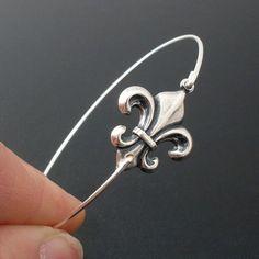 Fleur de Lis Bracelet Fleur de Lis Jewelry French by FrostedWillow