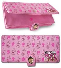 """Ouran High School Host Club Rose & Rabbit Wallet by GE Animation. $14.44. Licensed Merchandise. Licensed Ouran High School Host Club wallet. This velcro closure wallet features Bunbun Rabbit and Roses. There are card holders, id, and cash holders. Button Closure. Size: Size: 3.5"""" x 7"""" folded.. Save 28%!"""