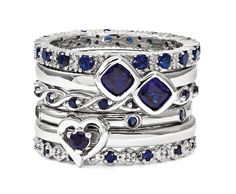 Stackable Expressions Sapphire Ring Stack