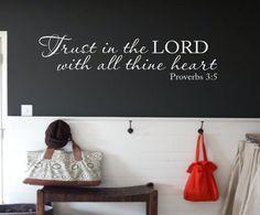 Proverbs 3:5 KJV Bible Verse Vinyl Lettering