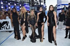 Fifth Harmony arriving at the @vmas White Carpet. #VMAs