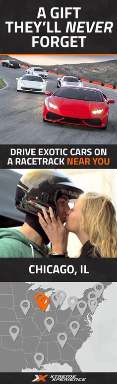 It's never been easier to give a gift to the guy who has everything. Driving a Ferrari, Lamborghini, Porsche or other exotic sports car on a racetrack is a unique gift idea that is guaranteed to leave a smile on his face, a good story to tell and a life-long memory. Xtreme Xperience brings the thrill of a lifetime to you at two racetracks in Chicago from Oct. 21-23, 2016. Reserve your SupercarTrack Xperience today starting at $199. Space is limited!