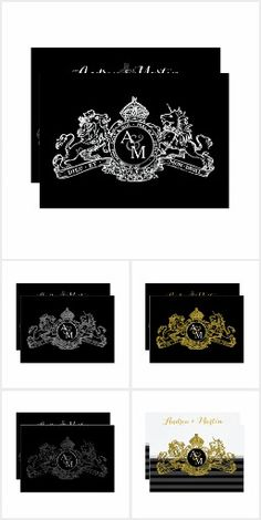 Invitation Suite, Invitations, Coat Of Arms, Special Events, Monogram, Collections, Prints, Black, Products