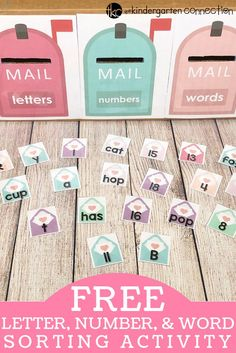 FREE Letter, Number, Word Valentine Sorting Activity for Kindergarten!