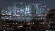 Des concept-arts pour le projet annulé d'adaptation hollywoodienne d'Akira   9emeArt.fr